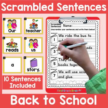 Scrambled Sentences Center - The Bundle - Holiday, Seasonal, Themes
