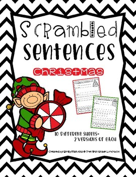 Scrambled Sentences: Christmas