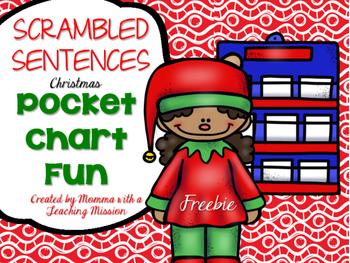 Scrambled Sentences Christmas FREEBIE