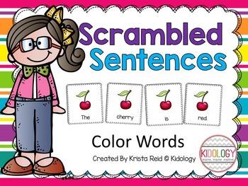 Scrambled Sentences - Color Words