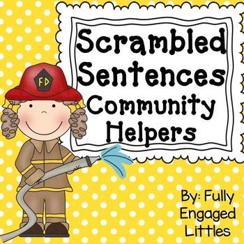 Scrambled Sentences Community Helpers