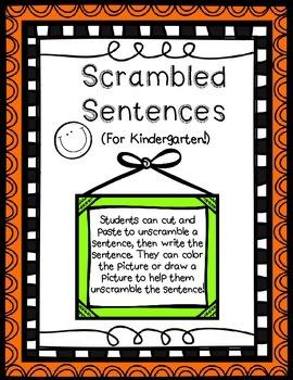 Scrambled Sentences Cut and Paste