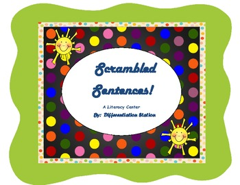 Scrambled Sentences! Differentiated Weather Literacy Center, Common Core