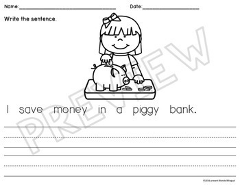 Scrambled Sentences: Econ (Spending & Saving Money)