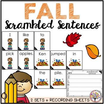 Scrambled Sentences - FALL