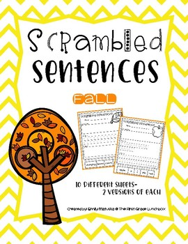 Scrambled Sentences: Fall