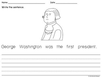 Scrambled Sentences - Famous Americans