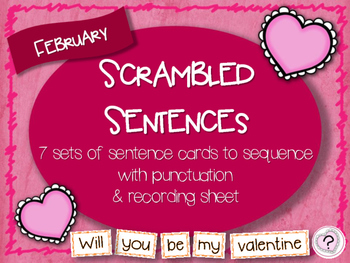 Scrambled Sentences - February