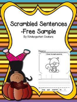 Scrambled Sentences Free Sample