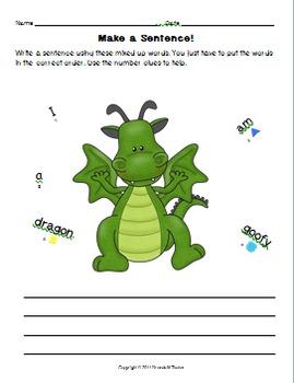 Scrambled Sentences-Freebie Packet