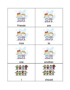 Scrambled Sentences- Friends