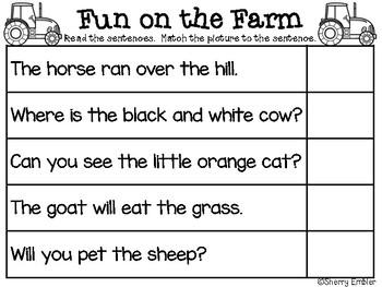 Scrambled Sentences Fun on the Farm