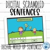 Scrambled Sentences | Google Slides™ Sentence Building | S