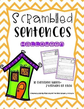 Scrambled Sentences: Halloween