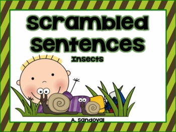 Scrambled Sentences INSECTS in ENGLISH