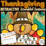 Scrambled Sentences: Interactive Thanksgiving Center
