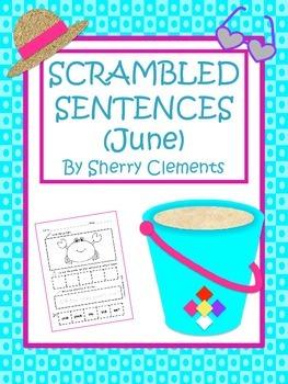 Summer Scrambled Sentences (June)