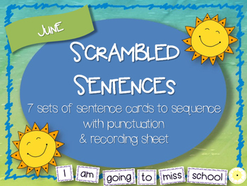 Scrambled Sentences - June