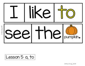 Scrambled Sentences: Kindergarten Sight Word Center (Aligned with Journeys)