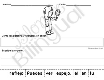 Scrambled Sentences: Light Spanish/English bundle