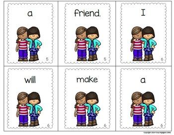 Scrambled Sentences Making Friends