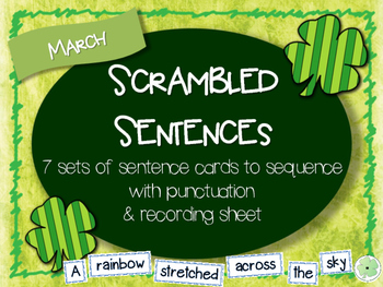 Scrambled Sentences - March