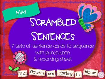 Scrambled Sentences - May