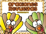 Oraciones revueltas Scrambled Sentences November in SPANISH