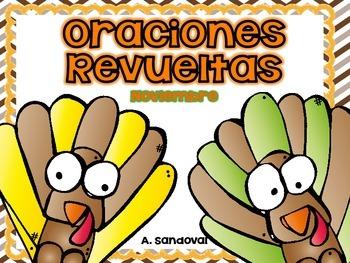 Oraciones revueltas Scrambled Sentences November in SPANISH