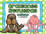 Oraciones revueltas Scrambled Sentences OCEAN SEA LIFE in Spanish