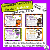 Scrambled Sentences - Read, Write, and Draw October Sampler