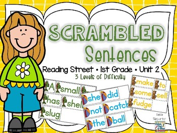 Scrambled Sentences - Reading Street - Unit 2