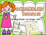 Scrambled Sentences - Reading Street - Unit 3
