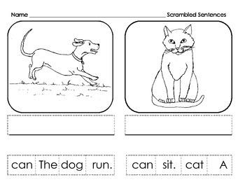 Scrambled Sentences Sample: CVC
