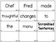 Scrambled Sentences - Set 2 - Digraphs Edition