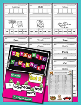 Scrambled Sentences -  Set 2 - NO PREP