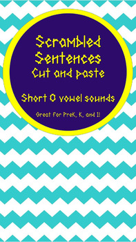 Scrambled Sentences- Short O Sounds, Editable