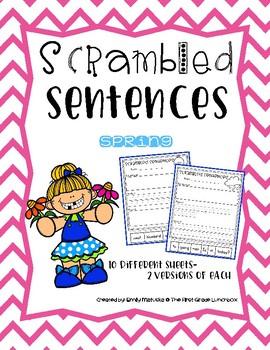 Scrambled Sentences: Spring