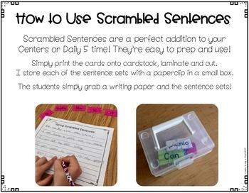 Scrambled Sentences {Spring Edition}