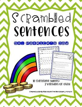 Scrambled Sentences: St. Patrick's Day