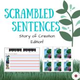 Literacy Centre - Scrambled Sentences: Story of Creation, Genesis Edition!