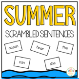 Scrambled Sentences Summer Edition