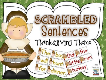 Scrambled Sentences - Thanksgiving Theme