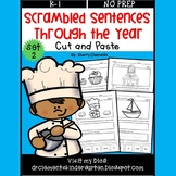 Scrambled Sentences Through the Year Set 2 (Cut and Paste)