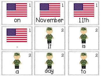 Scrambled Sentences: Veterans Day