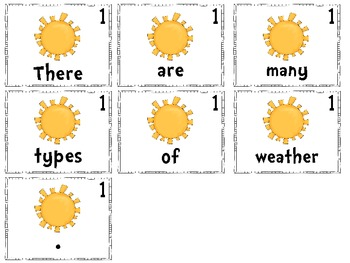 Scrambled Sentences: Weather Themed