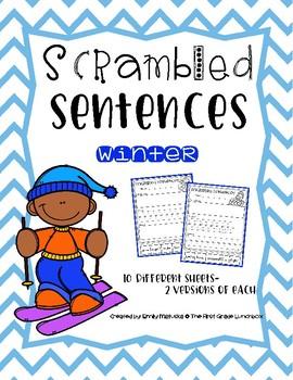 Scrambled Sentences: Winter