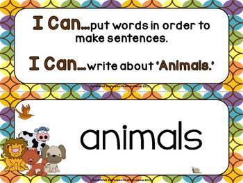 Scrambled Sentences: Writing About Animals