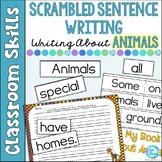 Scrambled Sentences Writing About Animals
