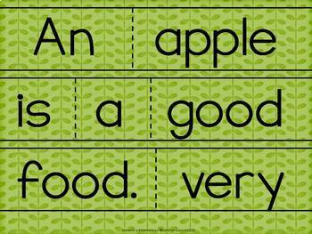 Scrambled Sentences: Writing About Apples